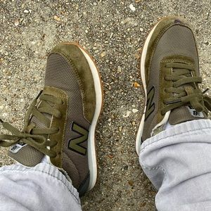 Olive Green New Balances